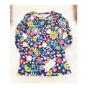 Carters long sleeve floral dress